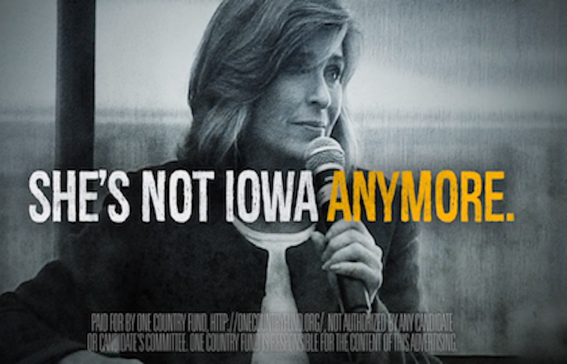 National group will target Joni Ernst in rural Iowa with $1 million ad buy